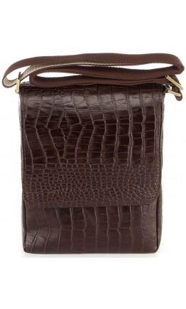 Кожаная коричневая сумка с тиснением SHVIGEL 00370