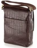 Фотография Кожаная коричневая сумка с тиснением SHVIGEL 00370