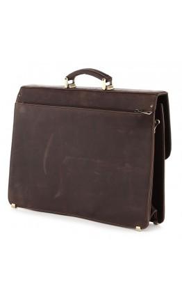 Портфель мужской кожаный коричневый винтажный SHVIGEL 00754