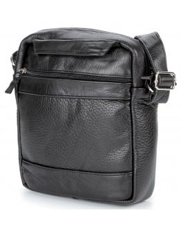 Мужская кожаная черная сумка на плечо SHVIGEL 00791