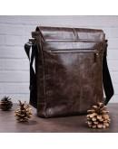 Фотография Мужская вместительная сумка на плечо SHVIGEL 00796