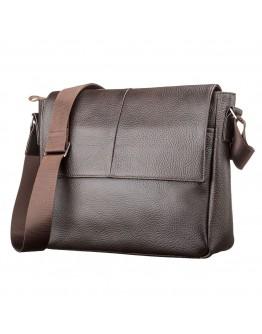 Коричневая горизонтальная сумка на плечо SHVIGEL 00798