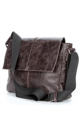 Коричневая мужская горизонтальная сумка SHVIGEL 00799
