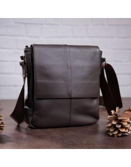 Мужская коричневая сумка на плечо SHVIGEL 00852