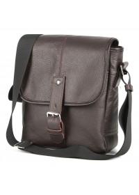 Коричневая кожаная мужская плечевая сумка SHVIGEL 00854
