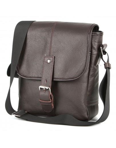 Фотография Коричневая кожаная мужская плечевая сумка SHVIGEL 00854
