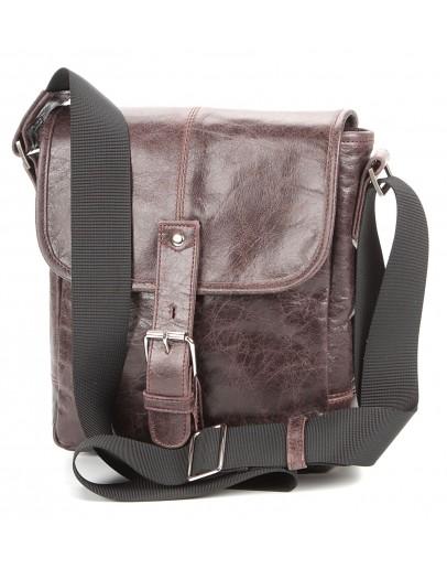 Фотография Коричневая сумка мужская на плечо SHVIGEL 00855