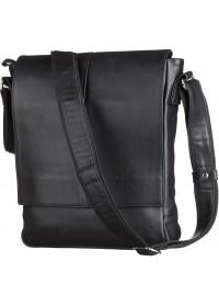 Вместительная кожаная мужская сумка на плечо SHVIGEL 00859