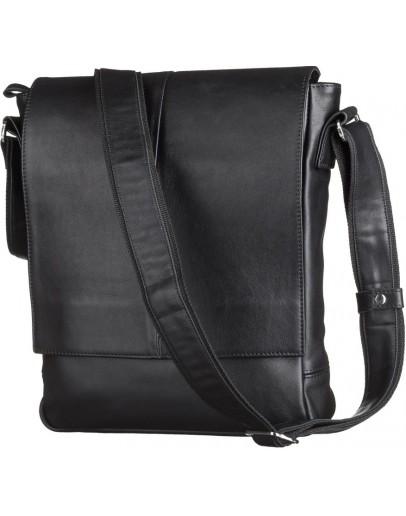 Фотография Вместительная кожаная мужская сумка на плечо SHVIGEL 00859
