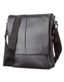 Фотография Черная сумка кожаная через плечо SHVIGEL 00861