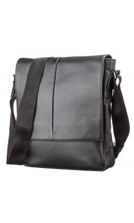 Черная сумка кожаная через плечо SHVIGEL 00861