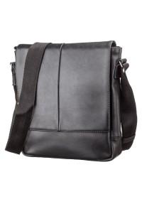 Мужская черная сумка через плечо SHVIGEL 00878