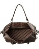 Фотография Дорожная коричневая кожаная сумка SHVIGEL 00879