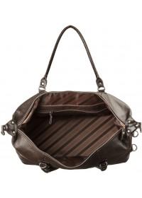 Дорожная коричневая кожаная сумка SHVIGEL 00879