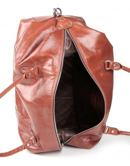 Рыжая мужская кожаная сумка для командировок SHVIGEL 00882