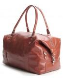 Фотография Рыжая мужская кожаная сумка для командировок SHVIGEL 00882