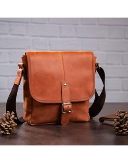 Кожаная светло-коричневая сумка на плечо SHVIGEL 00883