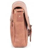 Фотография Кожаная светло-коричневая сумка на плечо SHVIGEL 00883