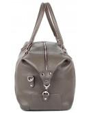Фотография Серая кожаная мужская сумка для командировок SHVIGEL 00889