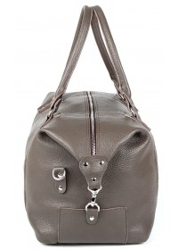Серая кожаная мужская сумка для командировок SHVIGEL 00889