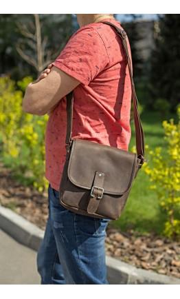Кожаная коричневая сумка на плечо SHVIGEL 00890