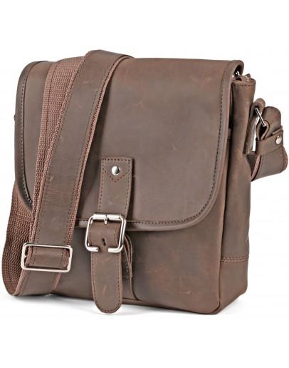 Фотография Кожаная коричневая сумка на плечо SHVIGEL 00890
