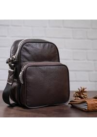 Мужской коричневый мессенджер - сумка на плечо SHVIGEL 00899