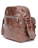Фотография Мужская коричневая кожаная сумка на плечо SHVIGEL 00904