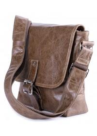 Коричневая мужская сумка через плечо SHVIGEL 00918