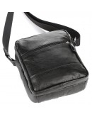 Фотография Черная мужская маленькая сумка на плечо SHVIGEL 00926