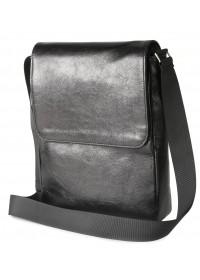 Черная мужская сумка на плечо формата А4 SHVIGEL 00927