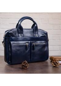 Синня мужская кожаная сумка для документов SHVIGEL 00976