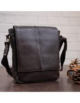 Маленькая коричневая мужская сумка на плечо SHVIGEL 00977