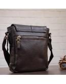 Фотография Маленькая коричневая мужская сумка на плечо SHVIGEL 00977