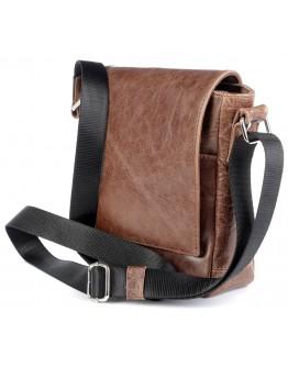 Коричневая мужская небольшая сумка на плечо SHVIGEL 00978