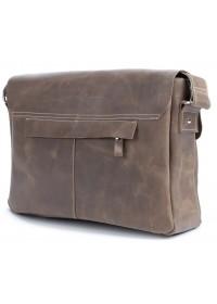 Вместительная кожаная мужская сумка на плечо SHVIGEL 00980