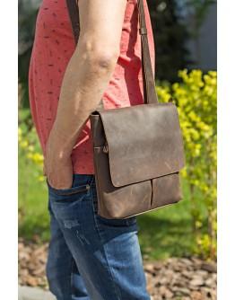 Мужская кожаная винтажная сумка на плечо SHVIGEL 00998