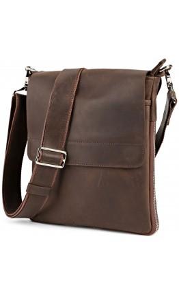 Винтажная мужская коричневая сумка на плечо SHVIGEL 00999