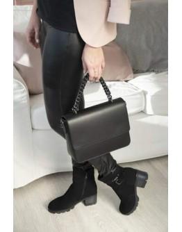 Кожаная черная женская сумка VIRGINIA CONTI 01815BLACK