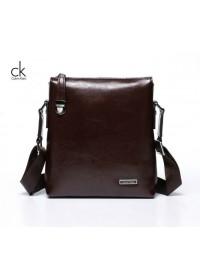 Элегантная и модная мужская сумка Calvin Klein из кожи 7021