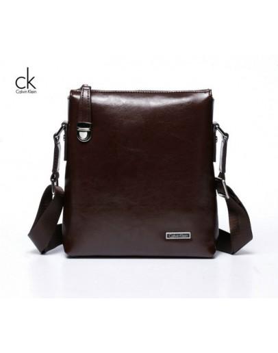 Фотография Элегантная и модная мужская сумка Calvin Klein из кожи 7021