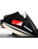 Фотография Удобная мужская кожаная сумка на плечо - планшетка 7023