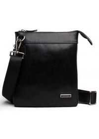 Удобная мужская кожаная сумка на плечо - планшетка 7023