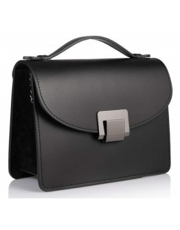 Женская черная кожаная сумочка VIRGINIA CONTI 02454 BLACK