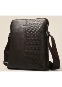 Стильная и модная мужская сумка Calvin Klein из кожи 7027k