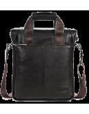 Фотография Вертикальная кожаная мужская сумка на каждый день 7041