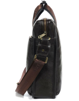 Вертикальная кожаная мужская сумка на каждый день 7041