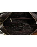 Фотография Черная вертикальная мужская сумка из натуральной кожи 7042