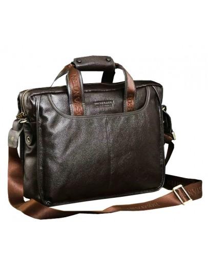 Фотография Добротный портфель стильного коричневого цвета 7043