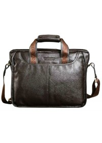Добротный портфель стильного коричневого цвета 7043